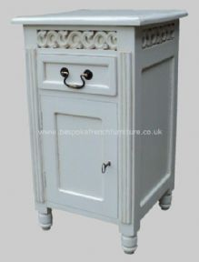 Sandrine Fret Work French Bedside in your choice of colour